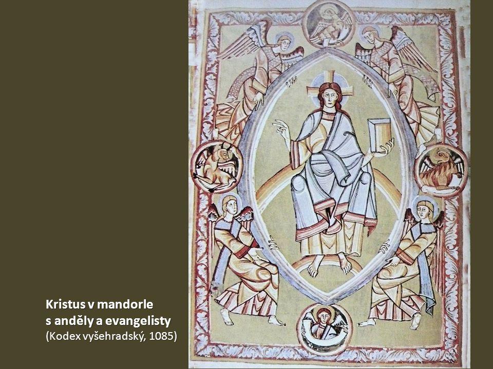 Kristus v mandorle s anděly a evangelisty (Kodex vyšehradský, 1085)