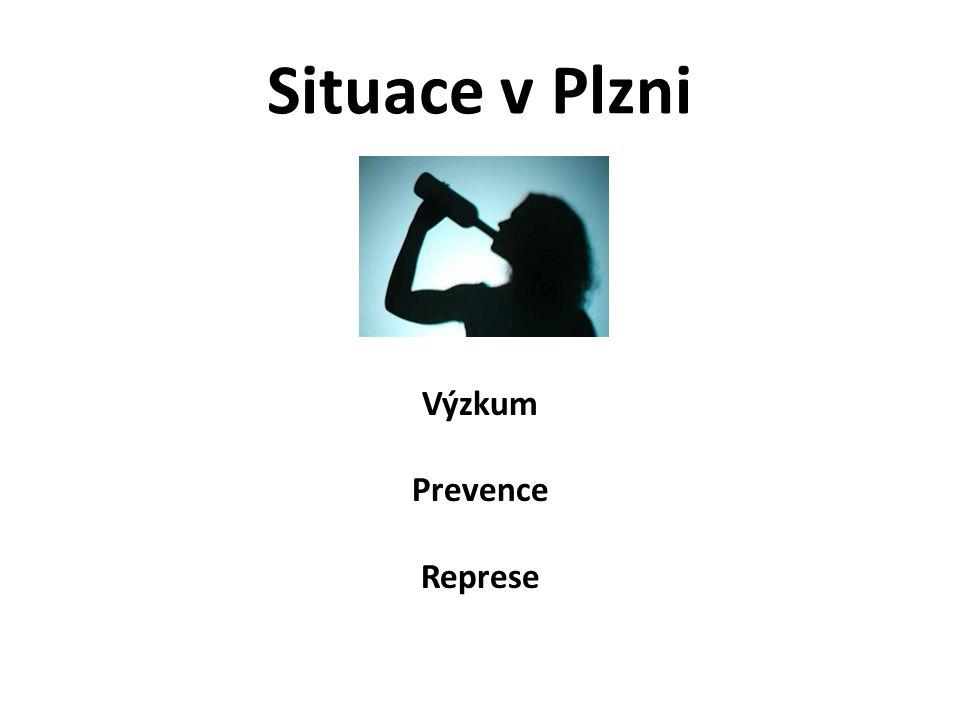 Situace v Plzni - primární prevence Výběr subjektů podílejících se na specifické primární prevenci ve městě Plzni ve vztahu k užívání návykových látek zejména alkoholu: NNO → různé sociální služby – P-centra, NZDM, terénní programy atd.