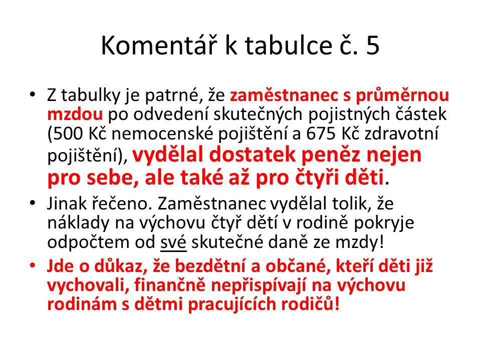 Komentář k tabulce č.
