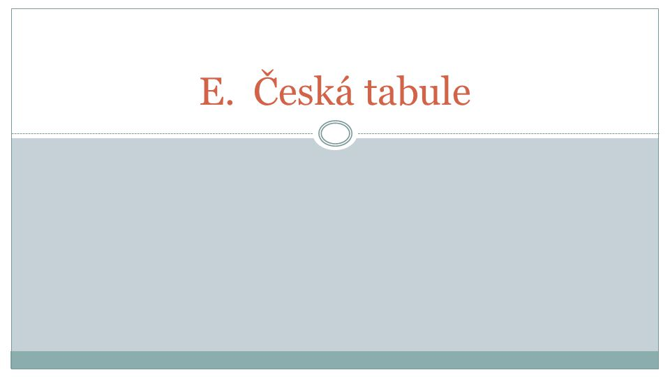 E.Česká tabule