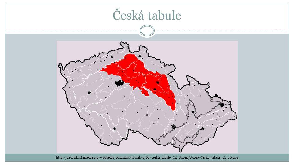 Česká tabule http://upload.wikimedia.org/wikipedia/commons/thumb/6/68/Ceska_tabule_CZ_I6.png/800px-Ceska_tabule_CZ_I6.png