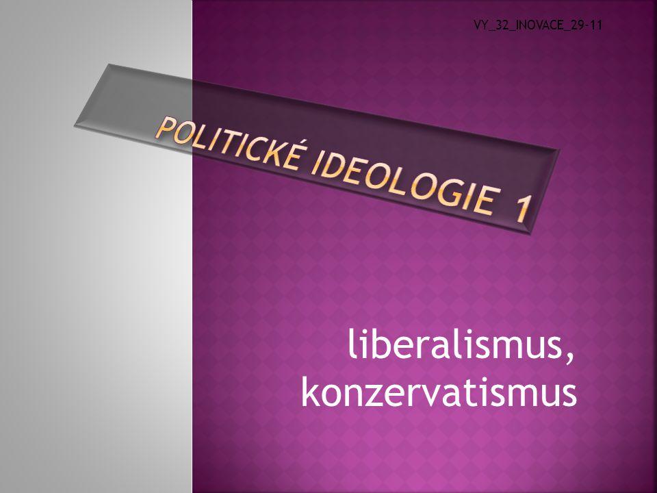 """ Liberál  označení se užívá od 14.století třída svobodných lidí """"štědrý , otevřenost, svobodomyslnost  Liberalismus  pojem byl poprvé zaznamenán v roce 1812 ve Španělsku  libertas-latinsky, liberty-anglický=svoboda  vznik a vývoj ideologie – 17.století, Anglie  velký vliv na tuto ideologii měli teoretikové přirozených práv (Locke, Jefferson)"""