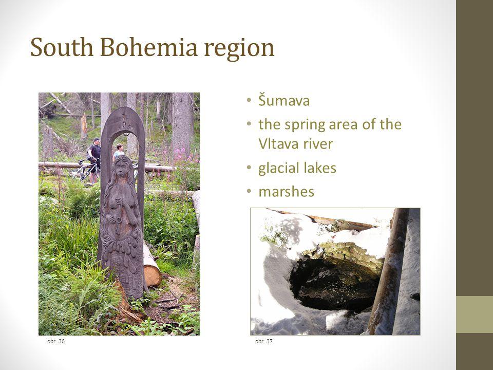 South Bohemia region obr. 36 Šumava the spring area of the Vltava river glacial lakes marshes obr. 37