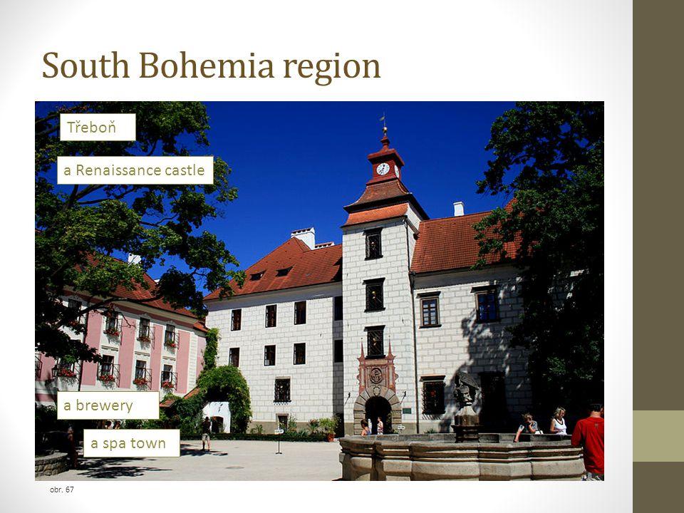 obr. 67 a spa town a brewery a Renaissance castle Třeboň South Bohemia region