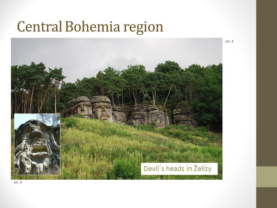 Central Bohemia region obr. 8 obr. 9 Devil´s heads in Želízy