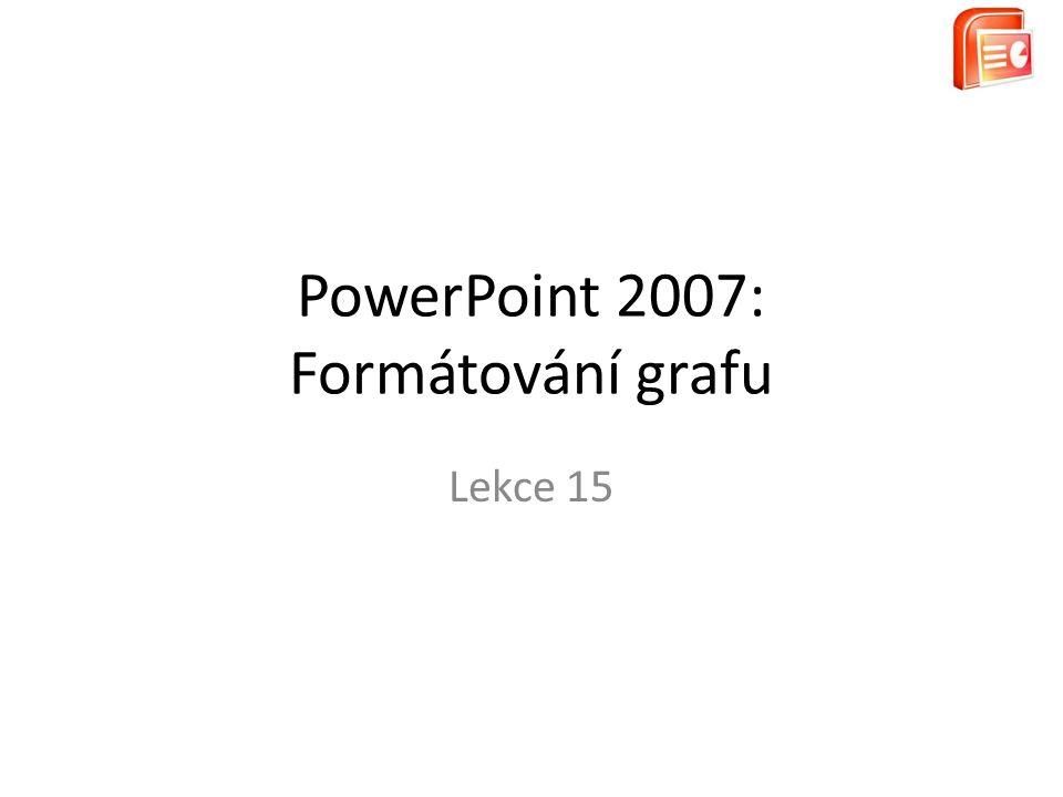 PowerPoint 2007: Formátování grafu Lekce 15