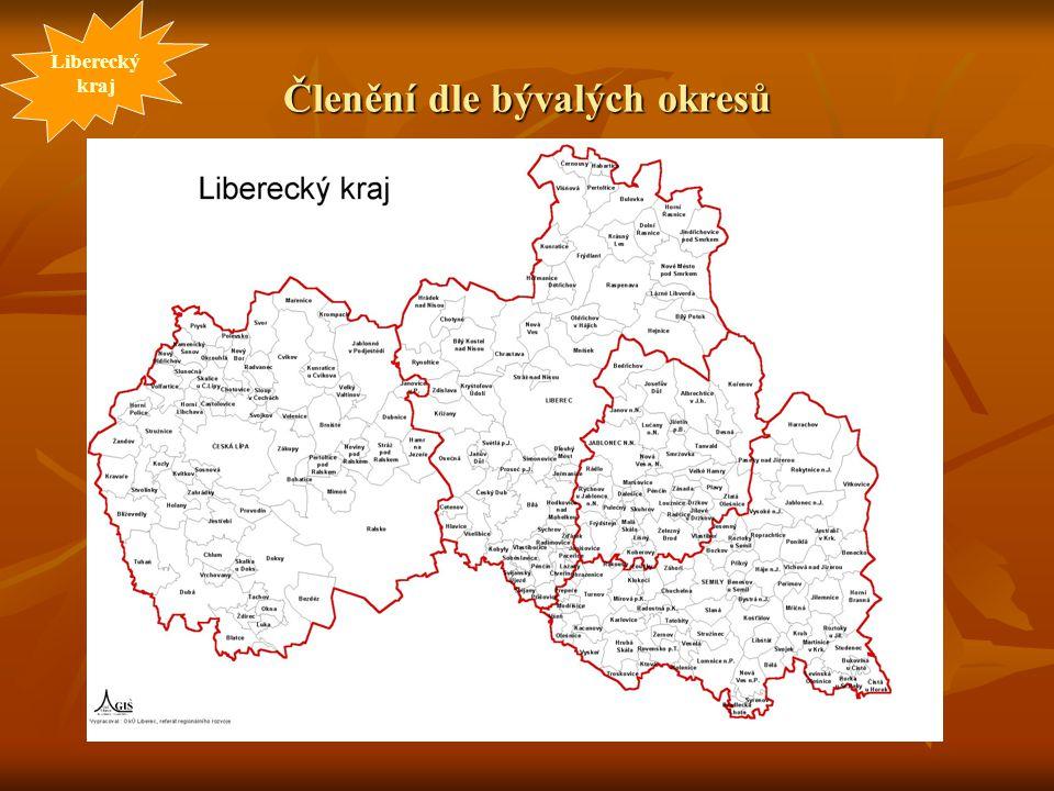 Členění dle bývalých okresů Liberecký kraj
