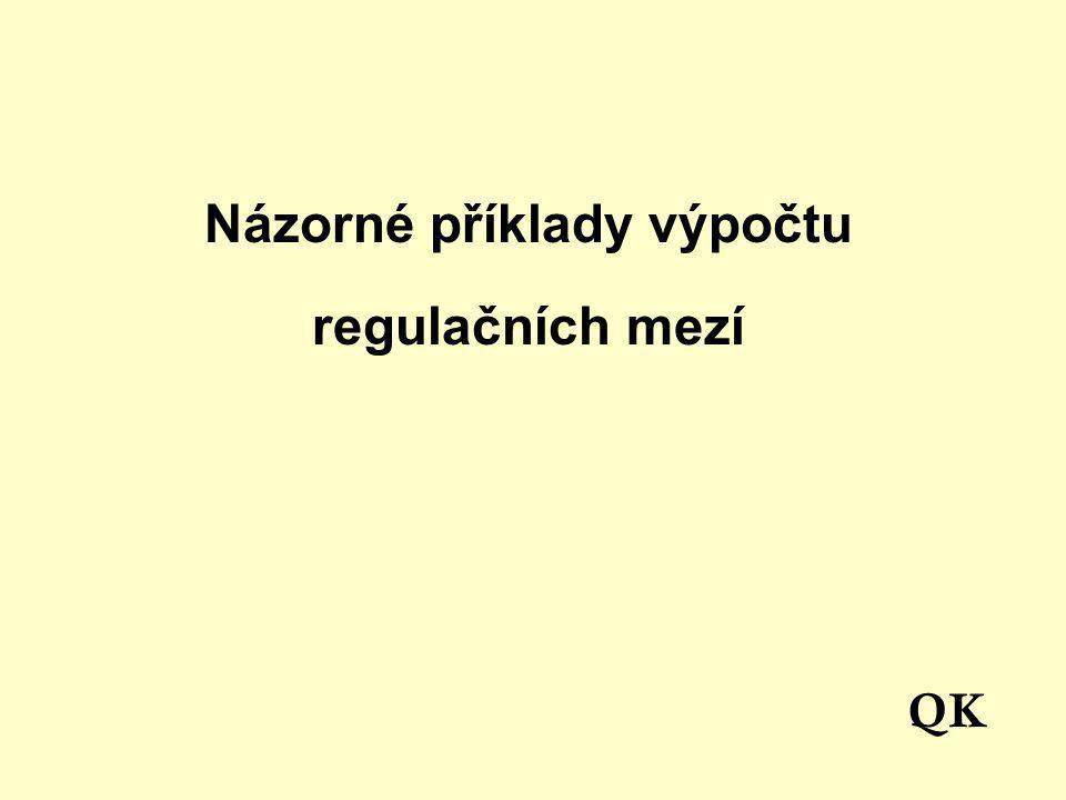 Názorné příklady výpočtu regulačních mezí QK