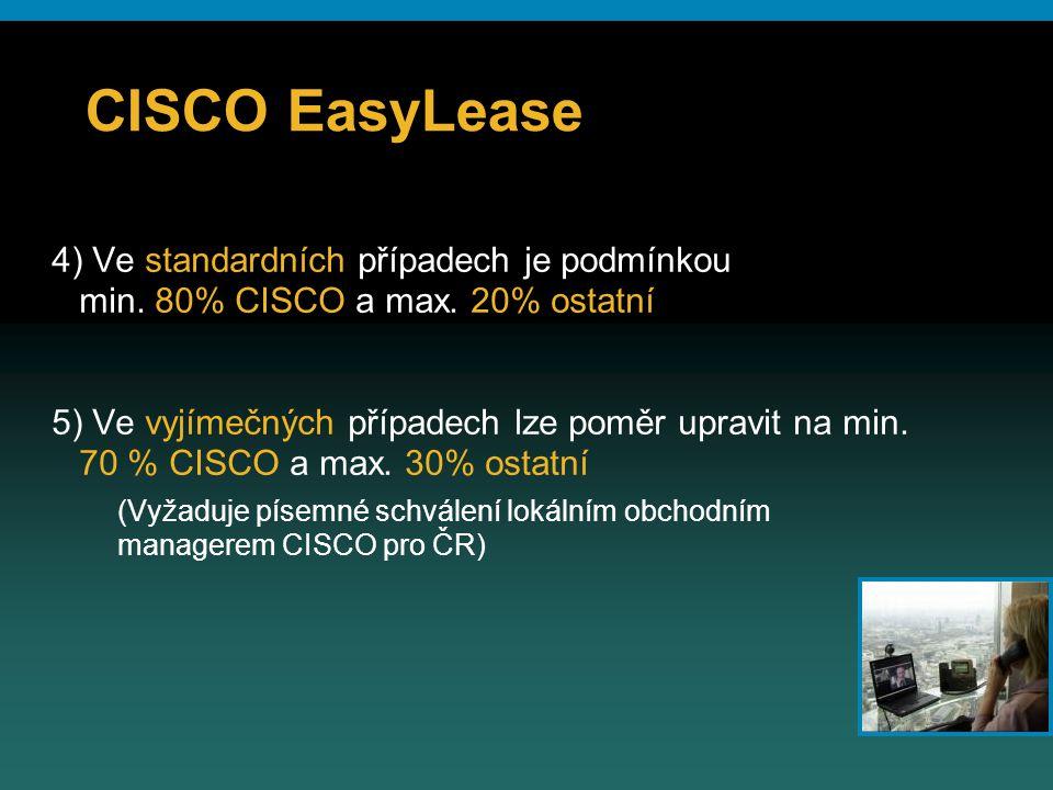 © 2006 Cisco Systems, Inc. All rights reserved.Cisco ConfidentialPresentation_ID 32 CISCO EasyLease 4) Ve standardních případech je podmínkou min. 80%