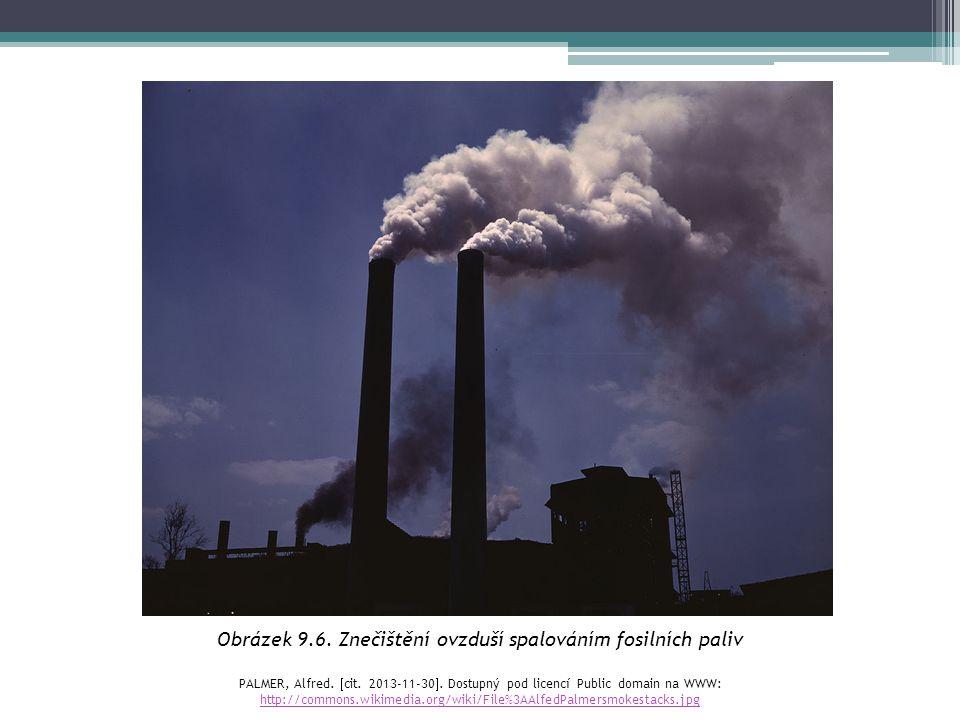 Obrázek 9.6. Znečištění ovzduší spalováním fosilních paliv PALMER, Alfred.  cit. 2013-11-30 . Dostupný pod licencí Public domain na WWW: http://comm