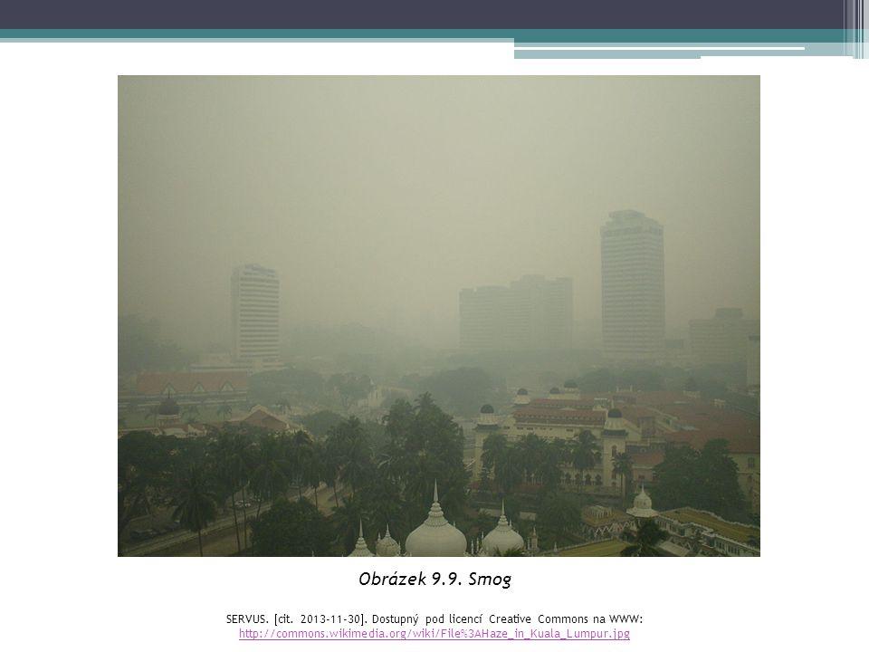 Obrázek 9.9. Smog SERVUS.  cit. 2013-11-30 . Dostupný pod licencí Creative Commons na WWW: http://commons.wikimedia.org/wiki/File%3AHaze_in_Kuala_Lu