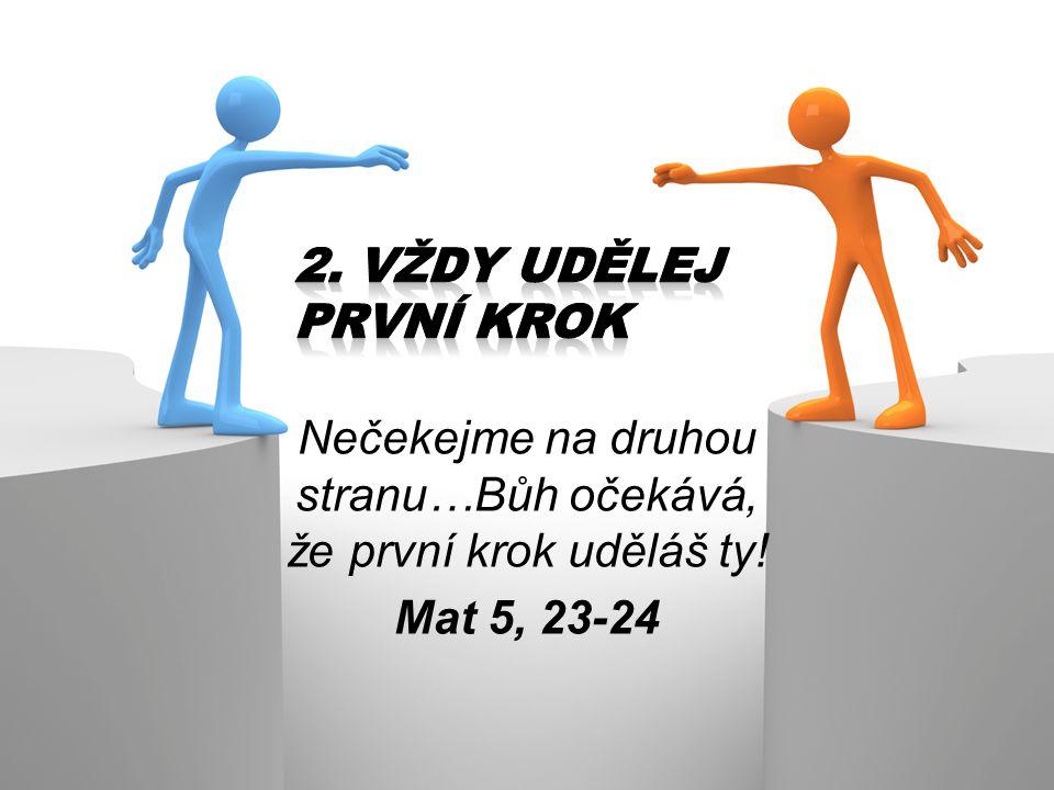 Nečekejme na druhou stranu…Bůh očekává, že první krok uděláš ty! Mat 5, 23-24