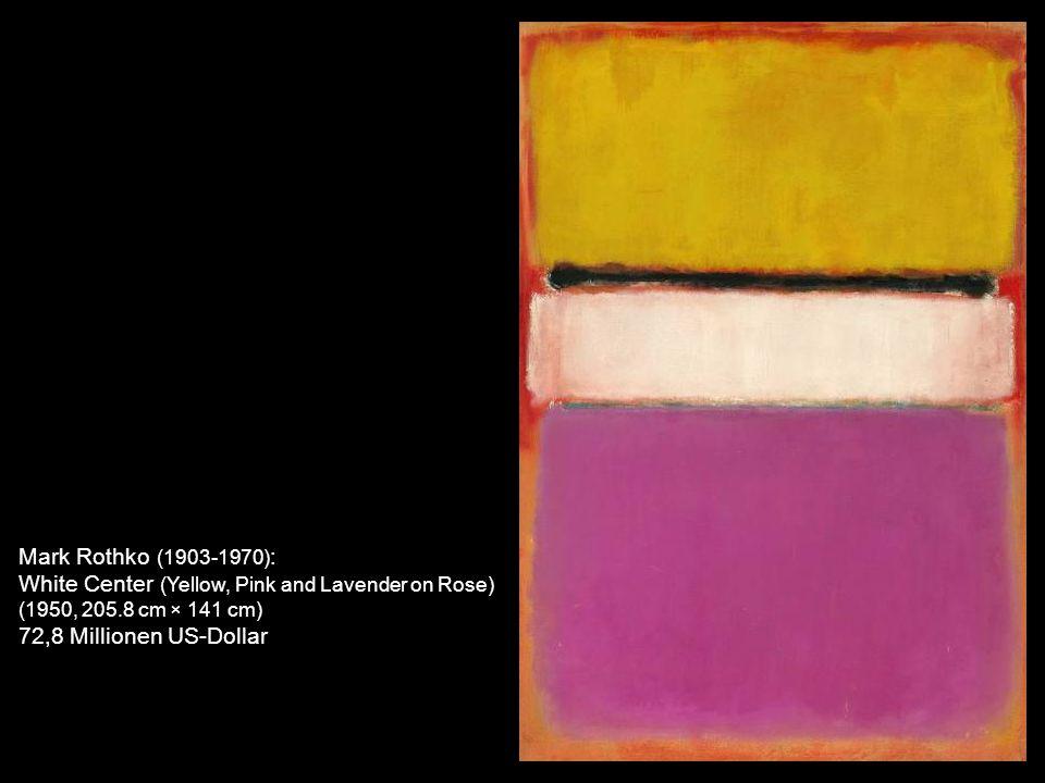 Mark Rothko (1903-1970) : No. 1 (Royal Red and Blue) (1954, 288.9 cm × 171.5 cm) 75.1 Millionen US-Dollar