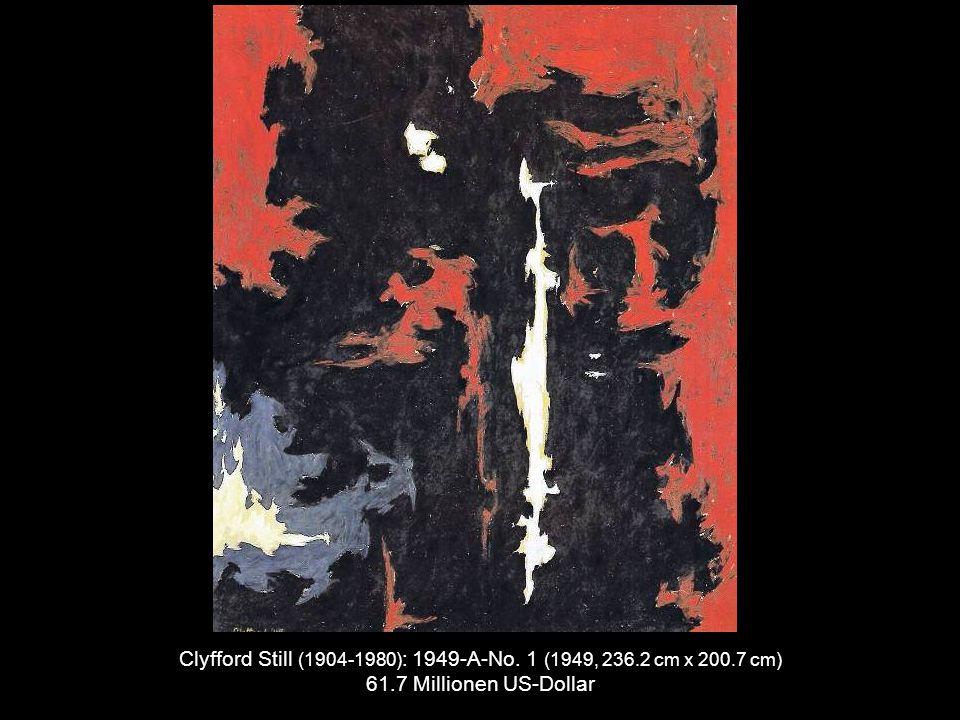 Willem de Kooning (1904-1997) : Police Gazette (1955, 43.25 cm x 50.25 cm) 63.5 Millionen US-Dollar