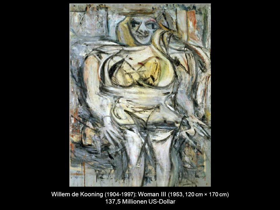 Jackson Pollock (1912-1956) : No. 5, 1948 (1948, 243 cm × 122 cm) 140 Millionen US-Dollar