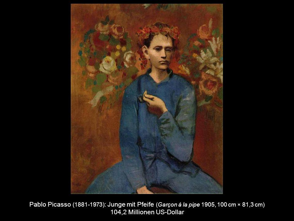Pablo Picasso (1881-1973) : Akt mit grünen Blättern und Büste ( Nu au Plateau de Sculpteur 1932, 162 cm × 130 cm) 106.5 Millionen US-Dollar