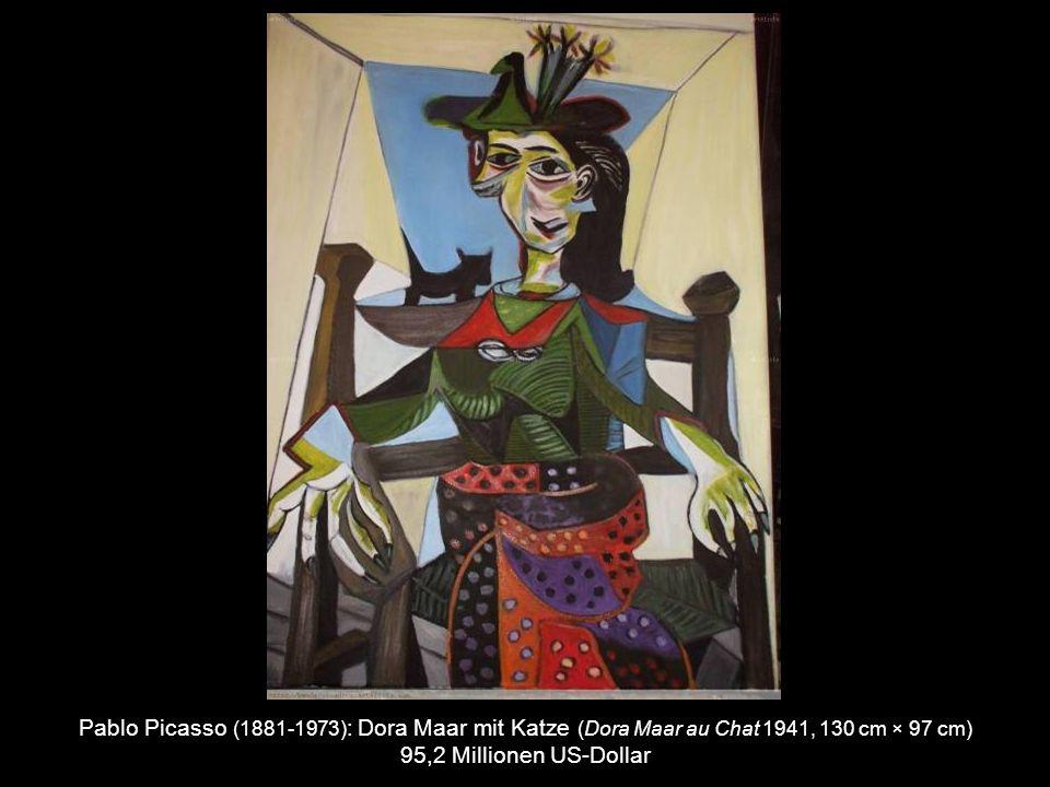 Pablo Picasso (1881-1973) : Junge mit Pfeife (Garçon á la pipe 1905, 100 cm × 81,3 cm) 104,2 Millionen US-Dollar