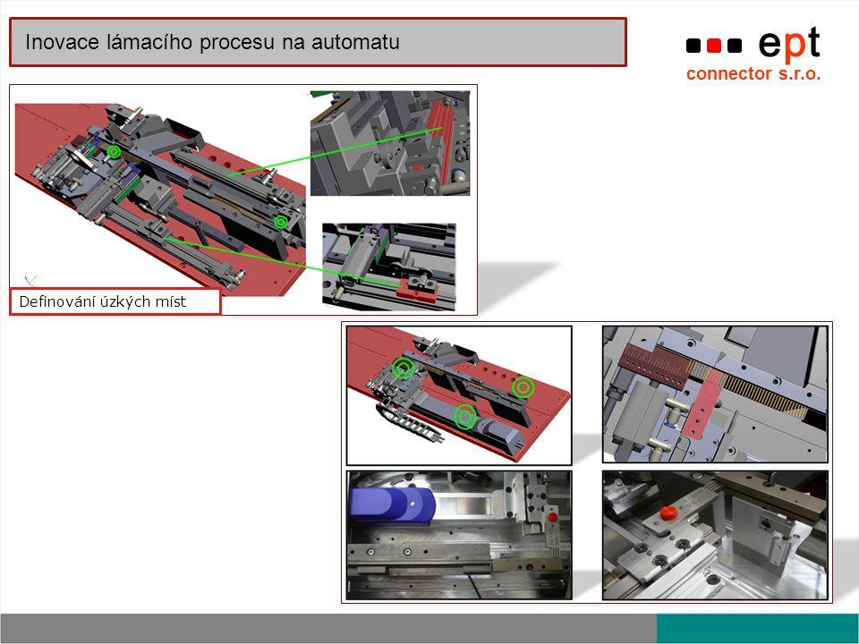 ept connector s.r.o. Inovace lámacího procesu na automatu Definování úzkých míst