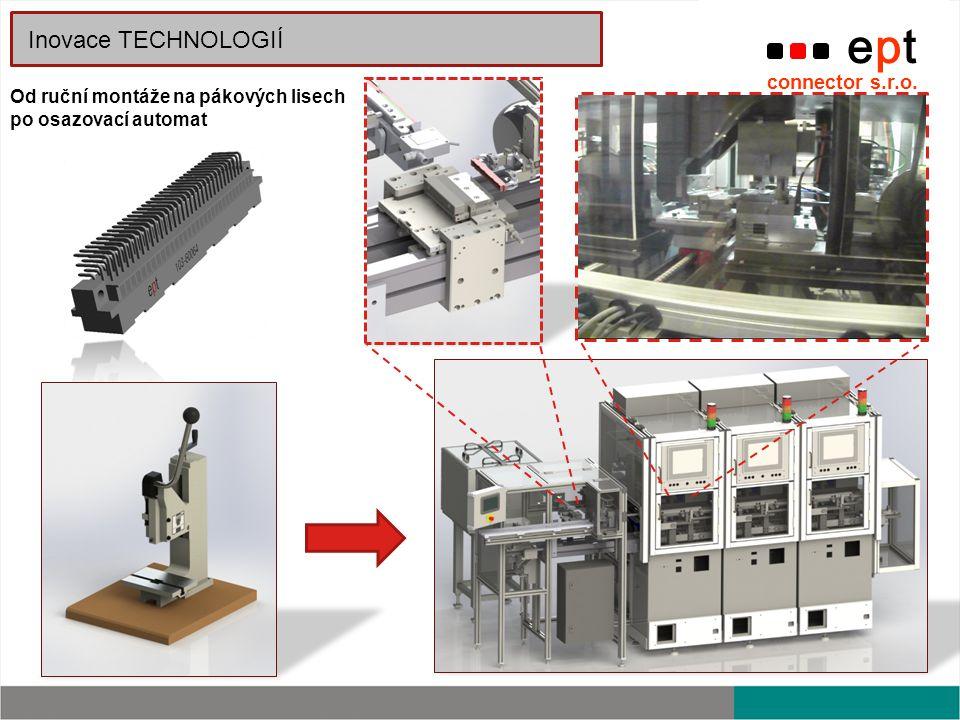 ept connector s.r.o. Inovace TECHNOLOGIÍ Od ruční montáže na pákových lisech po osazovací automat