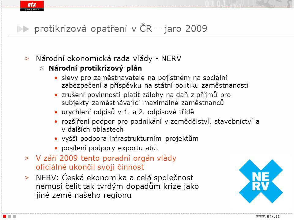 protikrizová opatření v ČR – jaro 2009 > Národní ekonomická rada vlády - NERV > Národní protikrizový plán slevy pro zaměstnavatele na pojistném na soc
