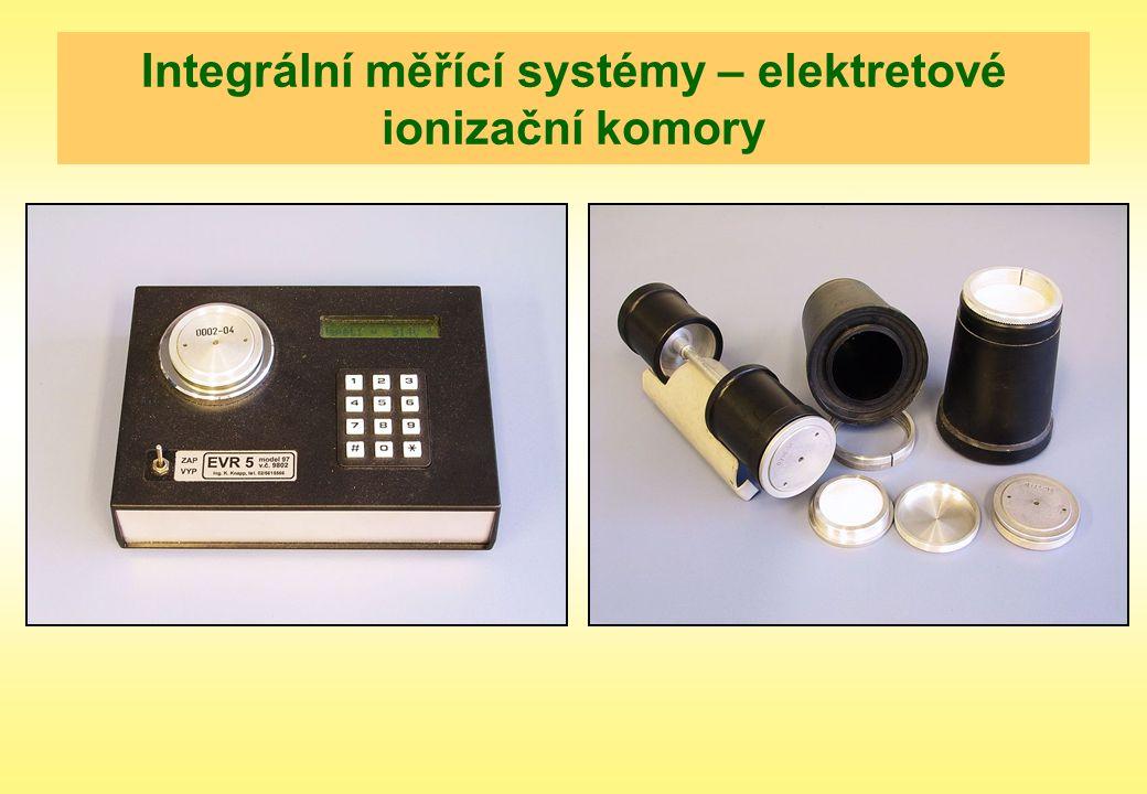 Integrální měřící systémy – elektretové ionizační komory