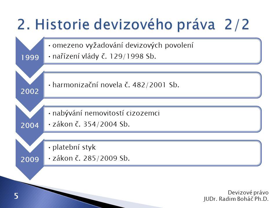 1) zákony ◦ 219/1995 Sb.◦ 253/2008 Sb. ◦ 284/2009 Sb.