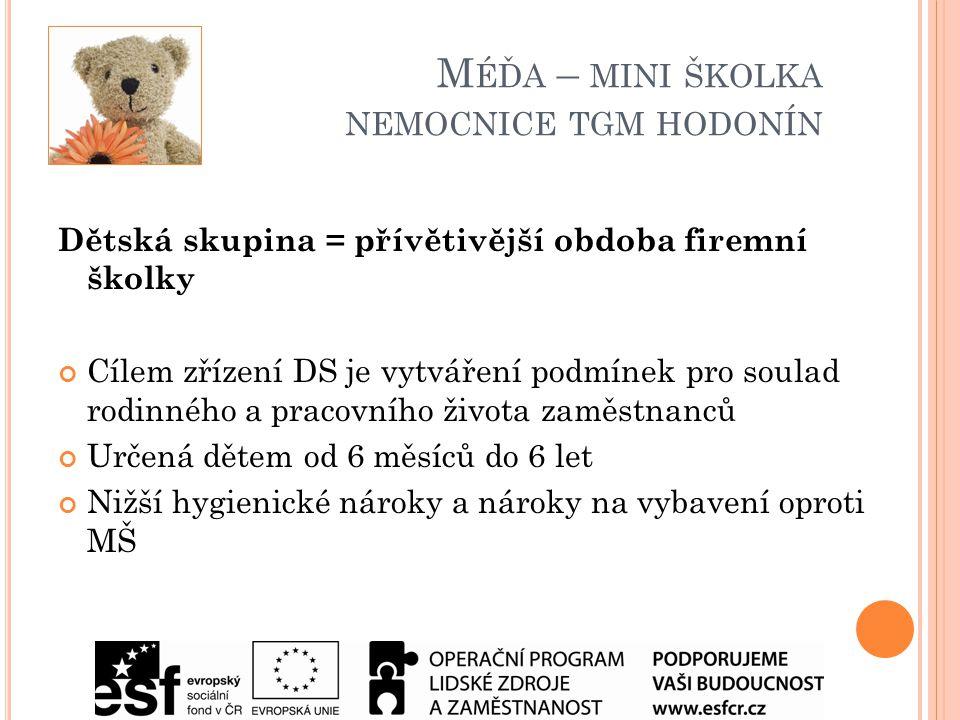 MÉĎA – MINI ŠKOLKA NEMOCNICE TGM HODONÍN.p.o.