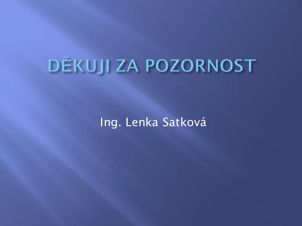 Ing. Lenka Satková
