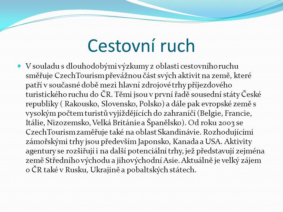 Cestovní ruch V souladu s dlouhodobými výzkumy z oblasti cestovního ruchu směřuje CzechTourism převážnou část svých aktivit na země, které patří v sou