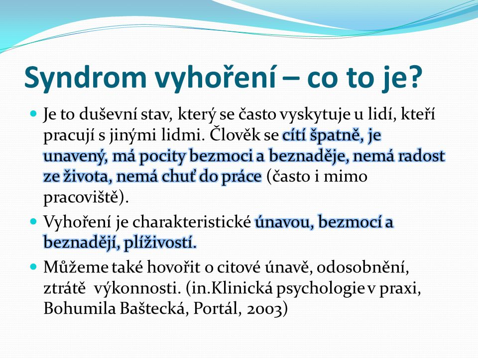Syndrom vyhoření – co to je?