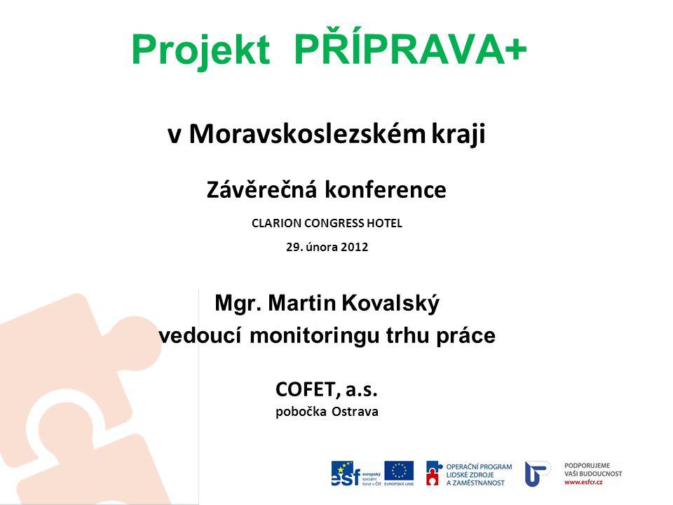 Projekt PŘÍPRAVA+ v Moravskoslezském kraji Závěrečná konference CLARION CONGRESS HOTEL 29.