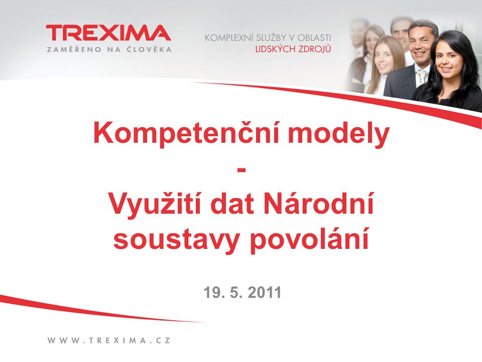 Kompetenční modely - Využití dat Národní soustavy povolání 19. 5. 2011