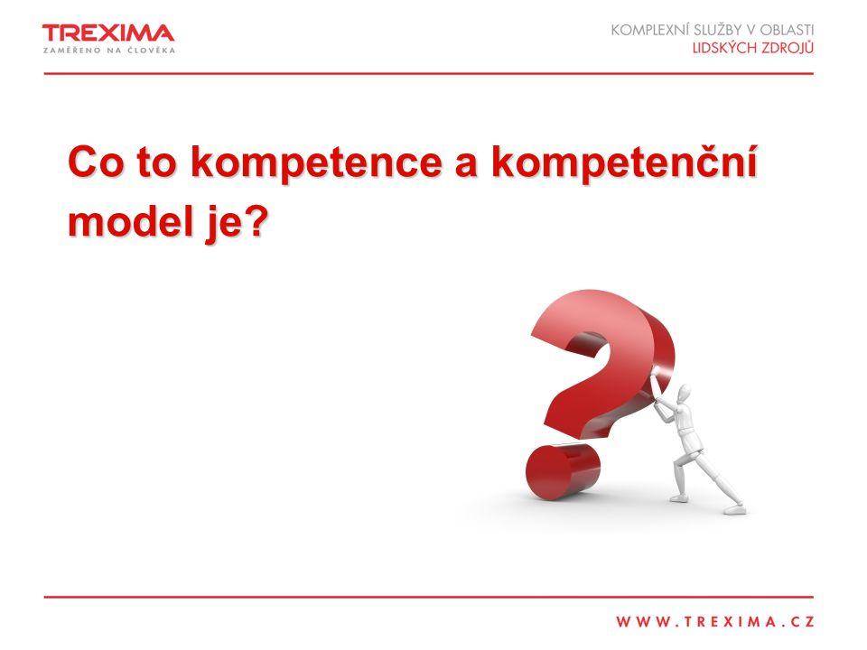 Co to kompetence a kompetenční model je?