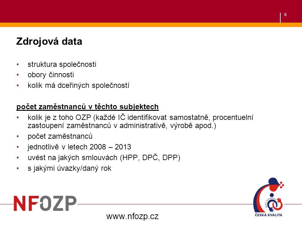 7 počet zaměstnaných OZP vč.