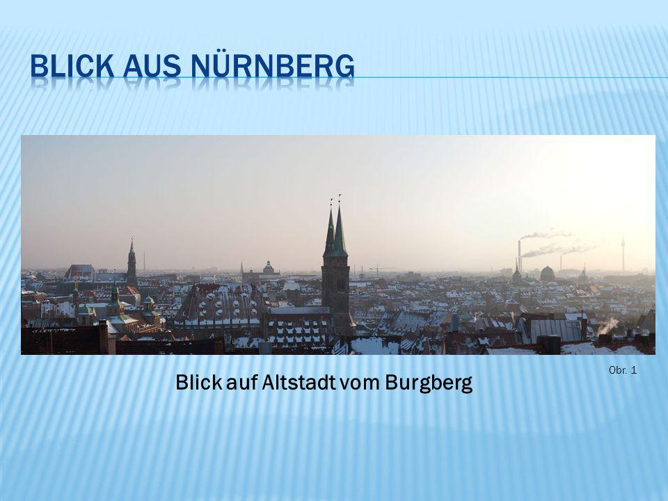 Obr. 1 Blick auf Altstadt vom Burgberg