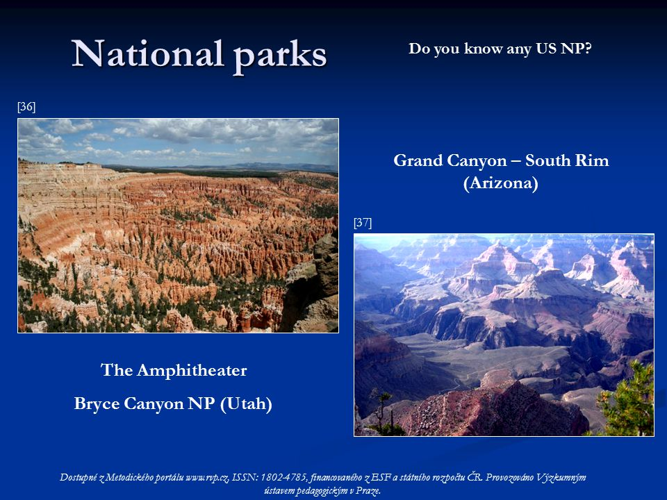 National parks Do you know any US NP.