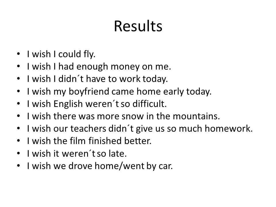 Results I wish I could fly. I wish I had enough money on me.