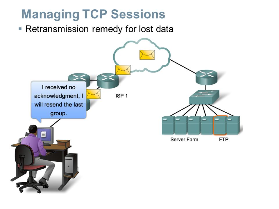 Managing TCP Sessions  Retransmission remedy for lost data