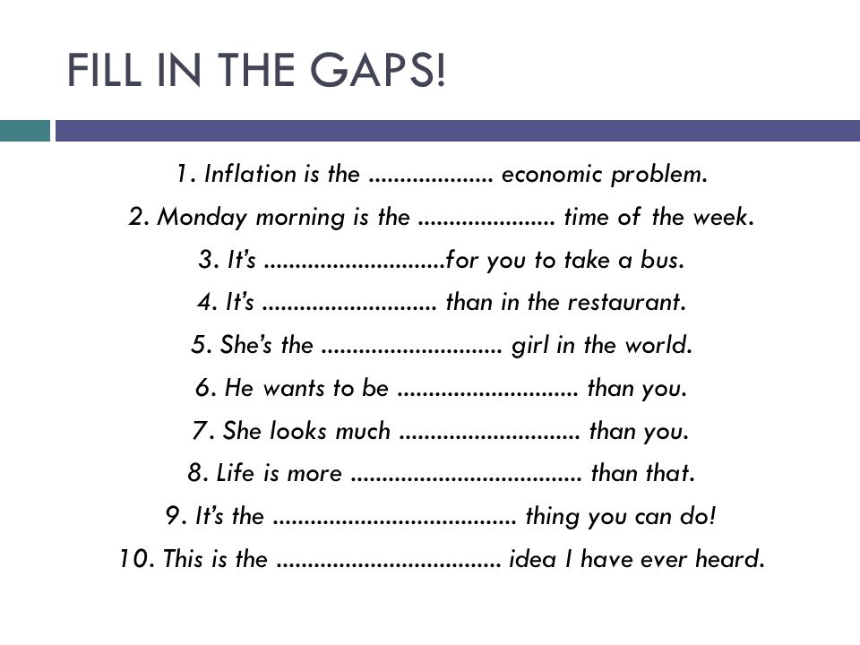 FILL IN THE GAPS. 1. Inflation is the....................