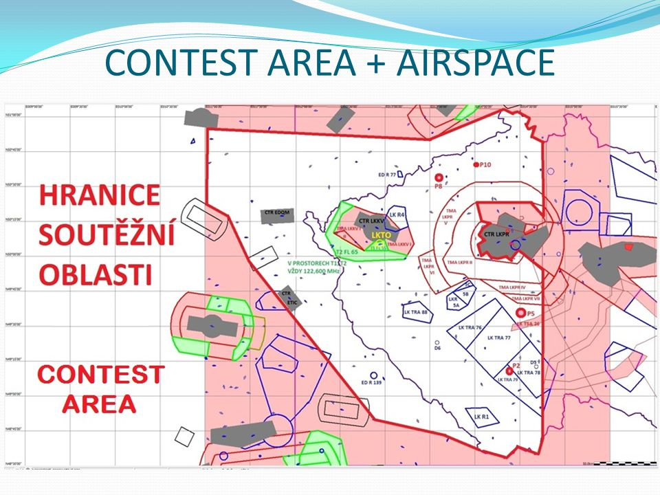 CONTEST AREA + AIRSPACE