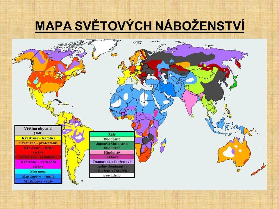 Mapa Mapa Nabozenstvi