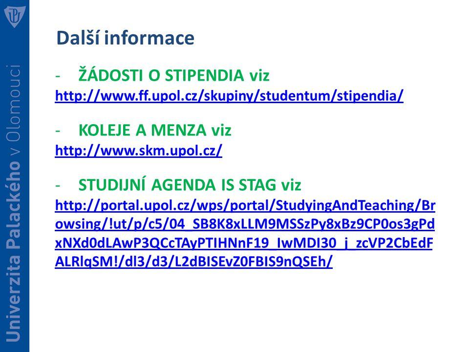 Zapis Do Studia Na Ff Up 1 Rocnik 2016 17 Zakladni Informace