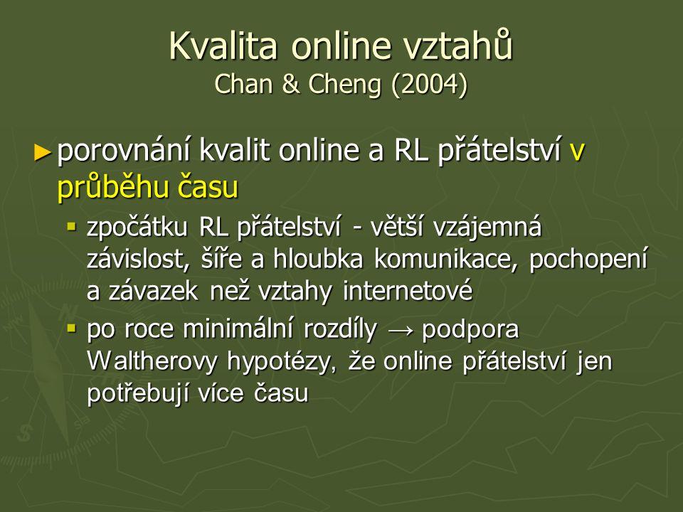 přátelství online
