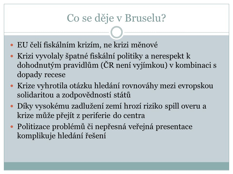 Co se děje v Bruselu.