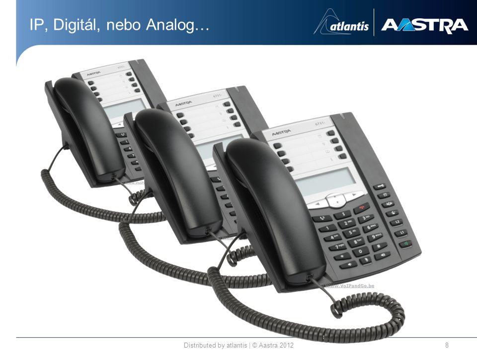 IP, Digitál, nebo Analog… Distributed by atlantis | © Aastra 20128