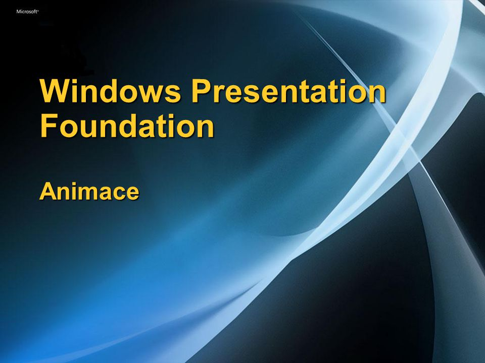 Windows Presentation Foundation Animace