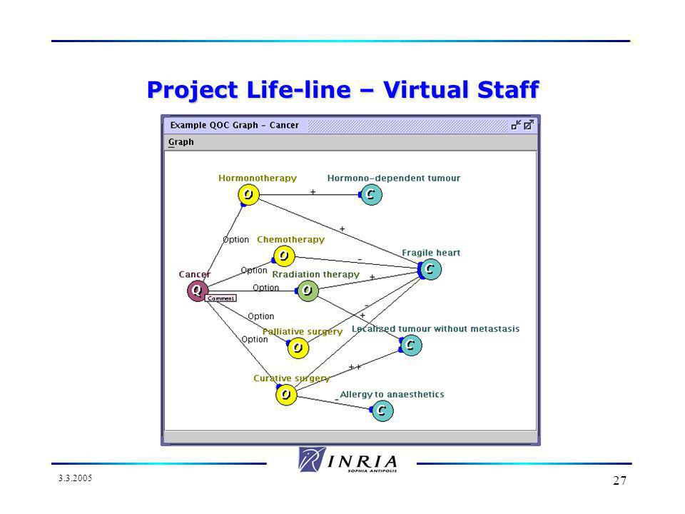 3.3.2005 27 Project Life-line – Virtual Staff