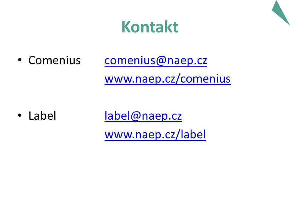 Kontakt Comenius   Label