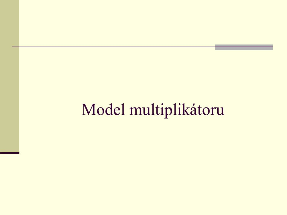 Model multiplikátoru