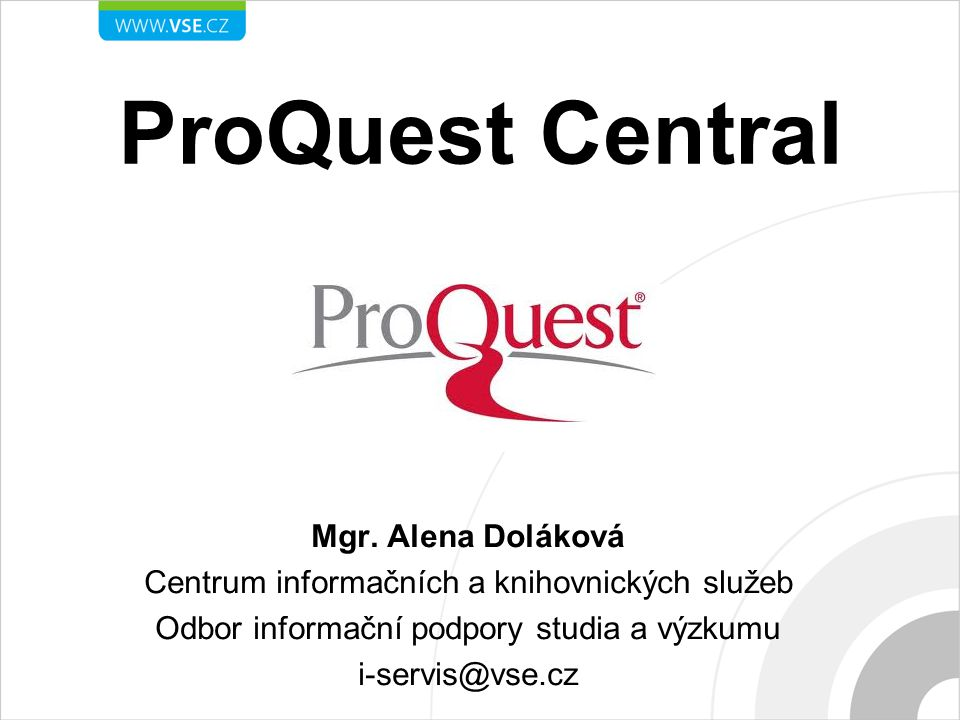 ProQuest Central Mgr.